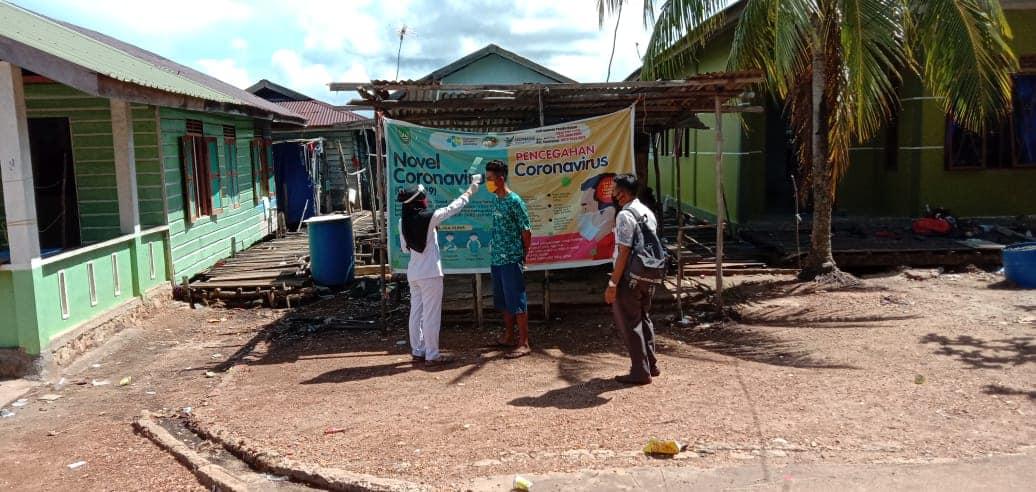 Kegiatan Penyisiran Satgas Penanganan COVID-19 Kecamatan Bulang di Kelurahan Temoyong, Kamis (04/06/2020)